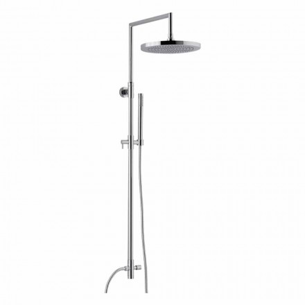 Shower column in chromed brass with abs hand shower made in Italy - Selvio