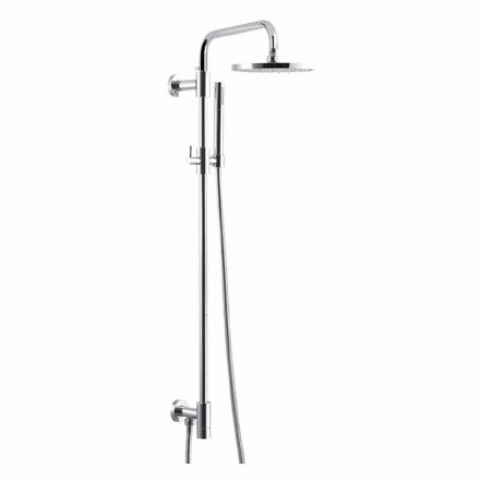 Shower column in chromed brass with steel shower head Made in Italy - Daino