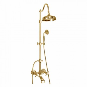 Adjustable Brass Shower Column with Made in Italy Bath Group - Fedrio