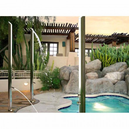 Outdoor stainless steel shower column Acquabambù by Bossini