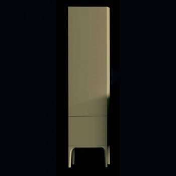 Amanda wooden bathroom cabinet with 2 doors, modern design, made in Italy