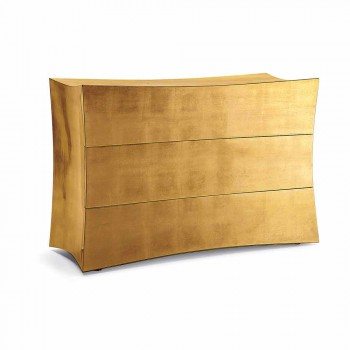 Dresser with 3 drawers in modern design MDF, made in Italy, Isidoro