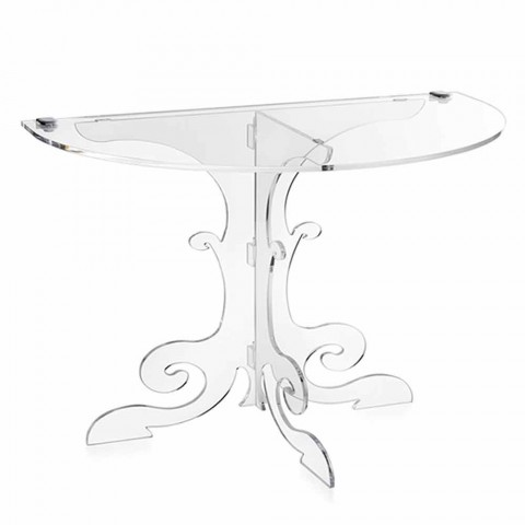 Classic design bedside table in acrylic glass and Tiana PMMA