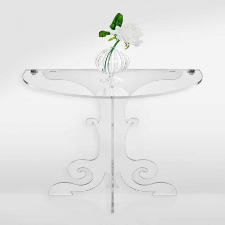 Classic design bedside table in acrylic crystal and PMMA, Tiana