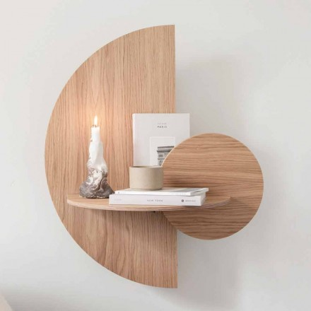 Design Bedside Table Consisting of 3 Modular Panels in Oak - Ramia Plywood