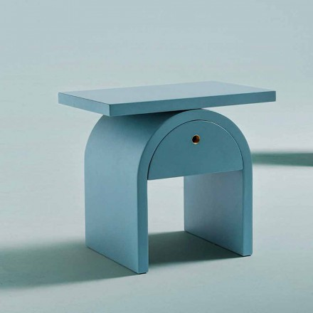 Modern Design Bedside Table in Colored Wood for the Bedroom - Arcom