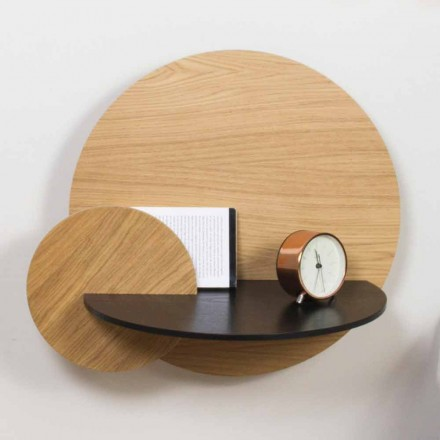 Modular Bedside Table Elegant Design in Plywood with Hidden Compartment - Bigno