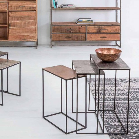 Composition 3 Coffee Tables in Aluminum and Steel Homemotion - Salvio