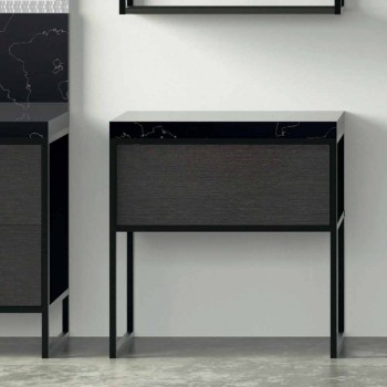 Composition 5 Free Standing Bathroom Furniture in Metal and Ecolegno Made in Italy - Cizco