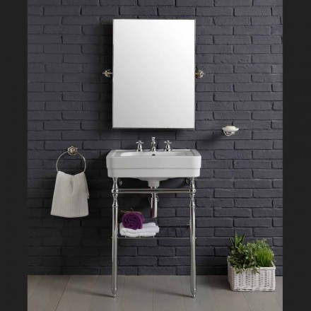 Vintage bathroom furniture composition with sink on metal Beauty structure