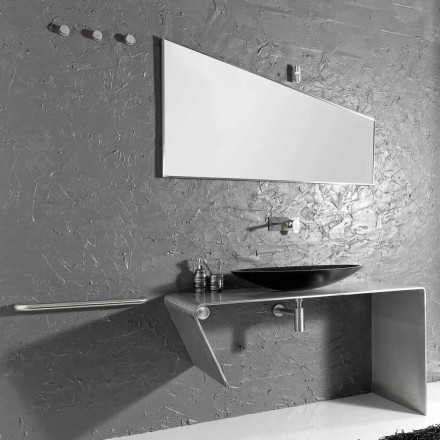 Modern design countertop bathroom furniture made in Italy Luisa
