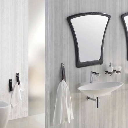 Design suspended bathroom furniture composition made in Italy Aosta