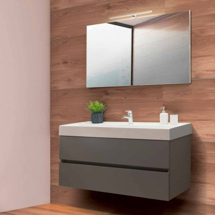 Bathroom Cabinet 120 cm, Mirror and Wash Basin  – Becky