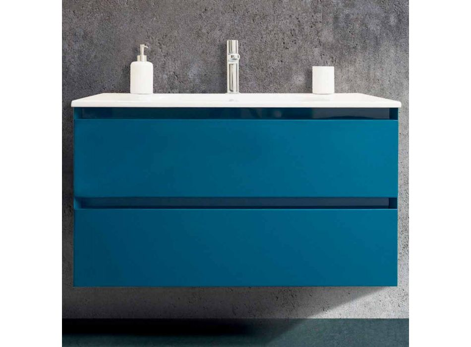 Composition Suspended Bathroom in Mdf Lacquered Made in Italy - Becky