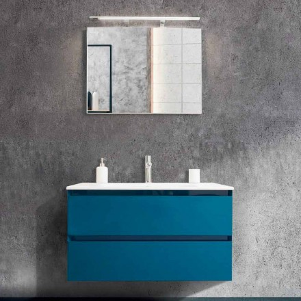 Bathroom Cabinet 90 cm, Modern Wash Basin and Mirror - Becky