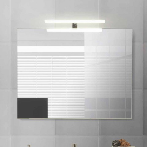 Modern Suspended Bathroom Composition in Melamine and MDF - Becky