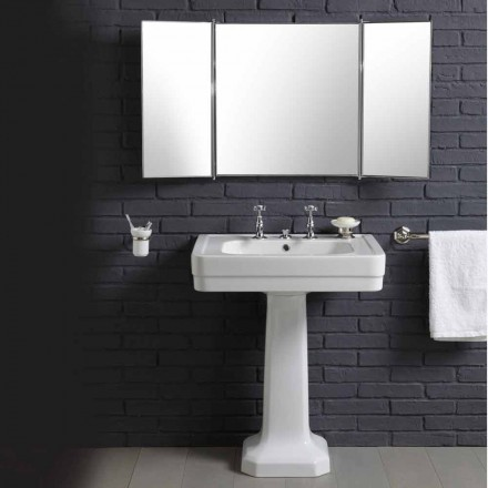 Composition with ceramic washbasin on pedestal vintage style 900 years Line
