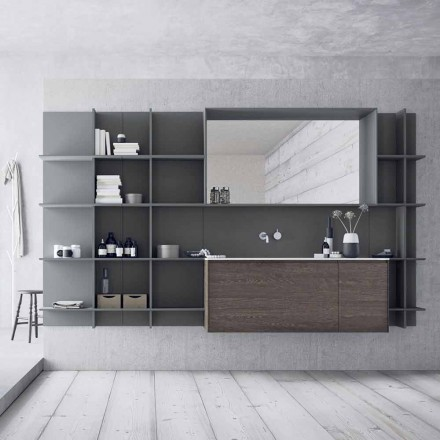 Suspended and Modern Bathroom Furniture Composition, Design Furniture - Callisi12