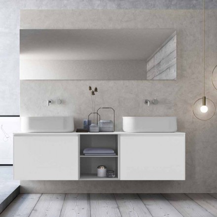 Modern Design Suspension Bathroom Composition Made in Italy - Callisi14