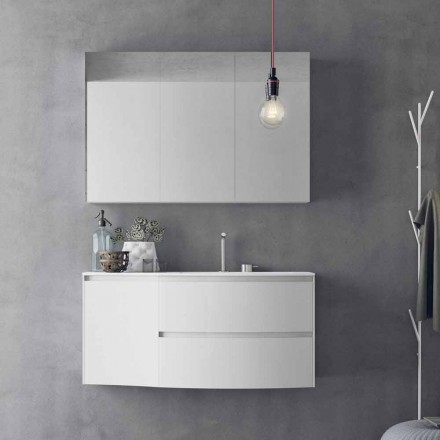 Modern and Suspended Bathroom Composition Made in Italy Design - Callisi7