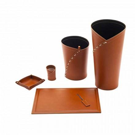 Office Accessories Made in Italy Umbrella Stand, Paper Bin, Desk Pad - Giulio