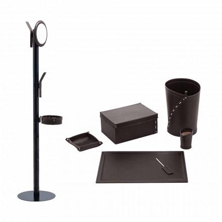 Office Items Coat Hanger, Desk Pad, Paper Bin, Holders - Andrea