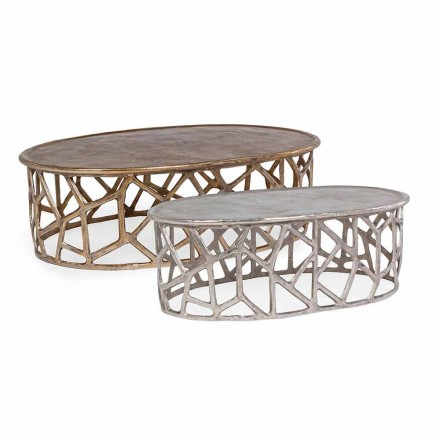 Composition of 2 Homemotion Aluminum Coffee Tables - Solomon