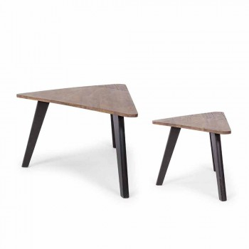 Composition of 2 Modern Wooden Coffee Tables Homemotion - Nigola