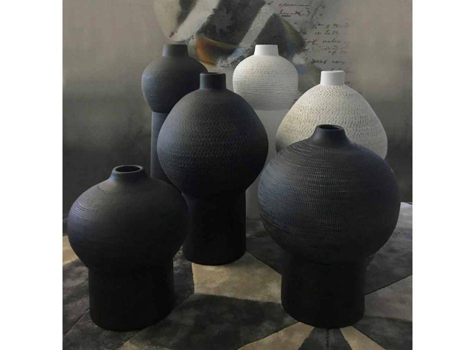 Composition of 2 Decorative Vases in Decorated Ceramic - Lampedusa
