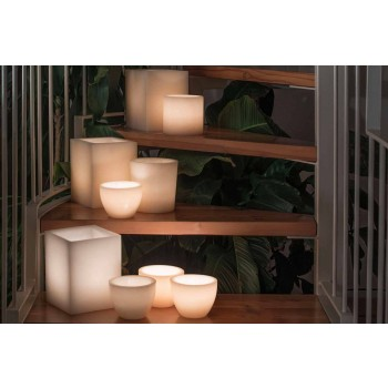 Composition of Scented Lanterns with Candle Made in Italy 3 Pieces - Terna