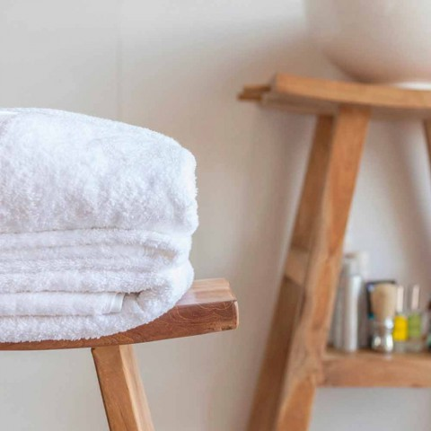 Composition of Bathroom Furniture in Solid Teak of Modern Design - Azina