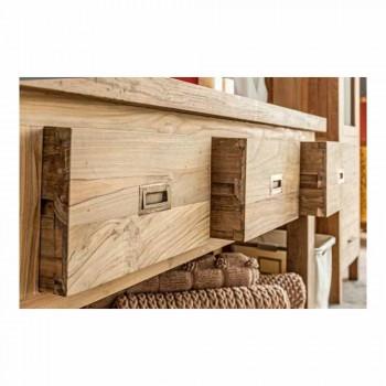 Composition of Modern Bathroom Furniture in Solid Teak Wood - Potty