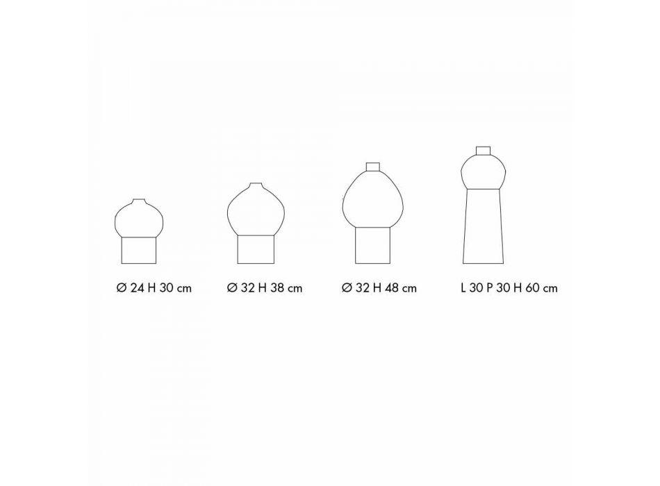 Composition of Decorative Ceramic Vases, Modern Design - Positano