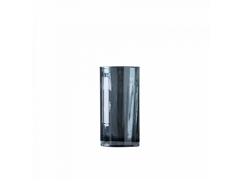 Composition of Modern Decorative Vases in Canned Smoked Glass - Munich