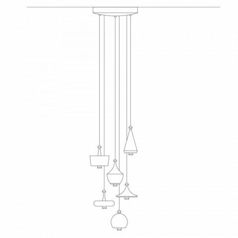 Composition Design Suspension Lamps - Lustrini Aldo Bernardi