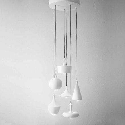 Composition Suspension Design Lamps - Lustrini Aldo Bernardi