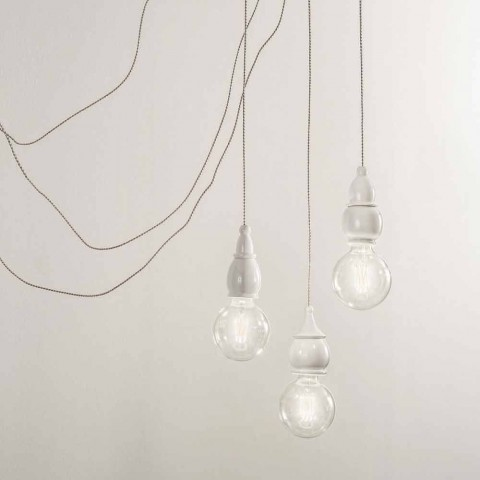 Composition Suspended Lamps with Multi-socket Made in Italy - Fate Aldo Bernardi