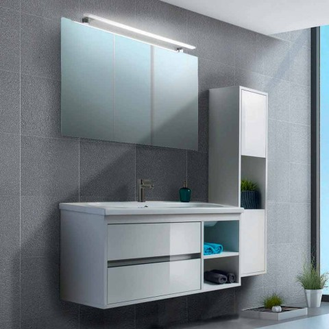 Composition Suspended Bathroom Furniture in Melamine and MDF - Becky