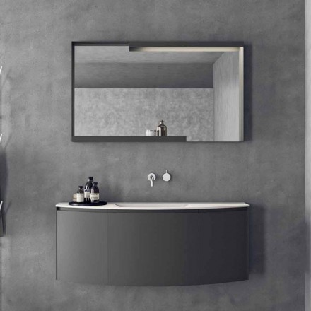 Modern Design Suspended Bathroom Furniture Composition - Callisi3