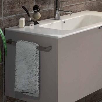 Mobili Da Bagno Genova.Modern Suspended Bathroom Composition In Ecowood Made In Italy Genova