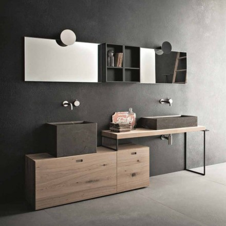 Modern Bathroom Composition of Ground Design Furniture Made in Italy - Farart6