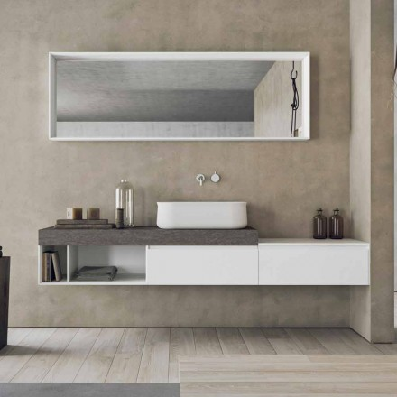 Modern and Suspended Composition of Design Bathroom Furniture - Callisi2
