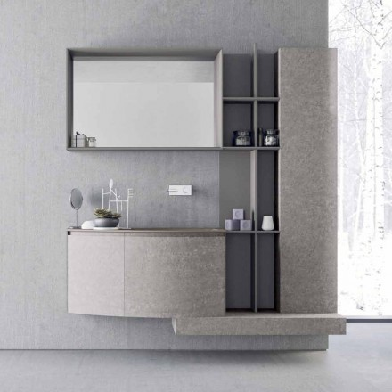 Bathroom Composition, Modern Italian Design Suspension - Callisi10