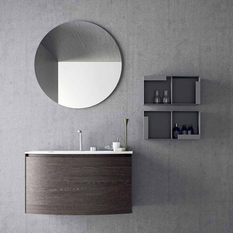 Composition for the Suspended Bathroom of Modern Design Made in Italy - Callisi11
