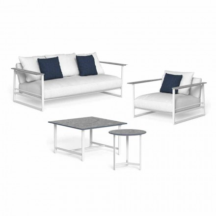 Design Living Room Composition in Aluminum and Gres - Riviera by Talenti