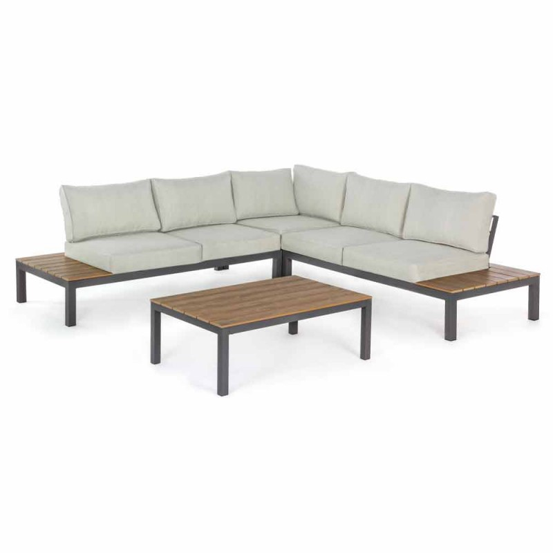 Angular Outdoor Living Room Composition with Aluminum Structure - Verve