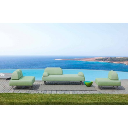 Outdoor Living Room Composition in Made in Italy Design Fabric - Selia