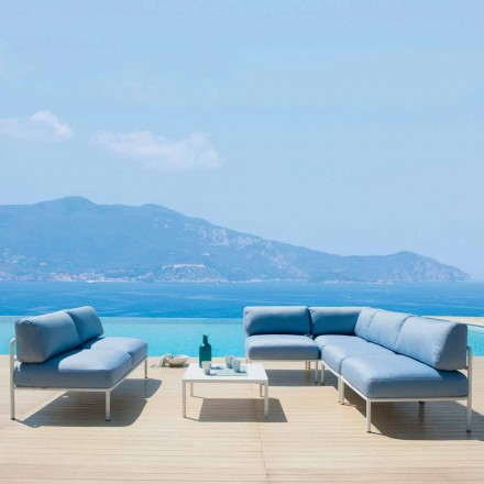 Outdoor Living Room Composition in Fabric and Metal Made in Italy - Cola