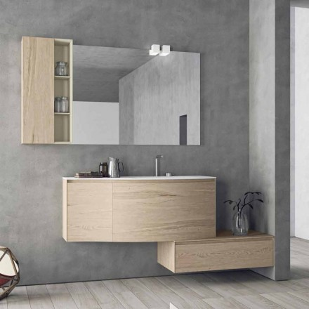Suspended and Modern Composition for the Bathroom, Made in Italy Design - Callisi4