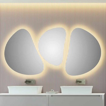 Composition Wall Mirrors Modern Design Shaped 3 Pieces - Fagiolao